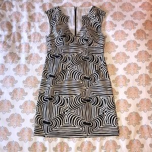White and Black Trina Turk Classic Dress